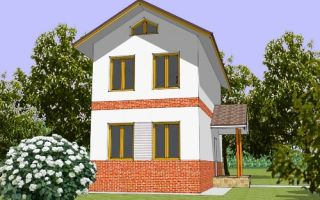 Проект двухэтажного дома 72 кв.м — 102-072