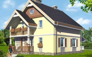 Проект мансардного дома 142 кв.м — 104-142