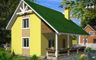 Проект дома с мансардой 73 кв.м — 101-073