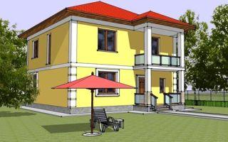 Проект двухэтажного дома 156 кв.м — 102-156
