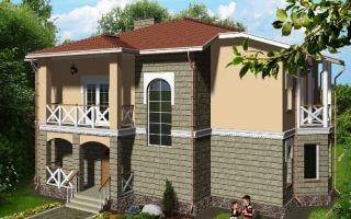 Проект двухэтажного дома 180 кв.м — 102-180