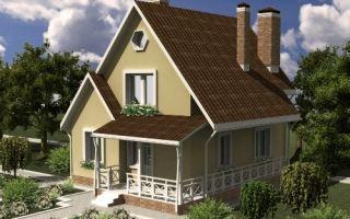 Проект мансардного дома 83 кв.м — 101-083