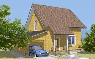 Проект дома с мансардой 112 кв.м — 106-112