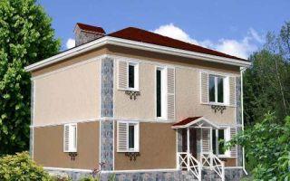 Проект двухэтажного дома 143 кв.м — 102-143