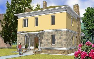 Проект двухэтажного дома 133 кв.м — 103-133