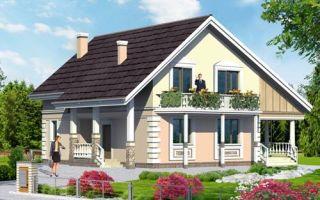 Проект мансардного дома 152 кв.м — 105-152
