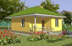 Проект одноэтажного дома 44 кв.м — 102-044