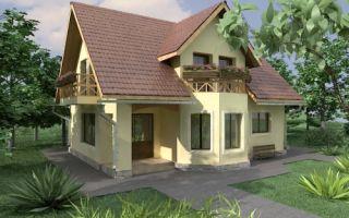 Проект дома с мансардой 121 кв.м — 103-121