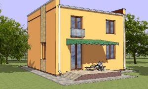 Проект двухэтажного дома 124 кв.м — 101-124