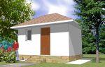 Проект сарая с подвалом 12 кв.м — 101-012