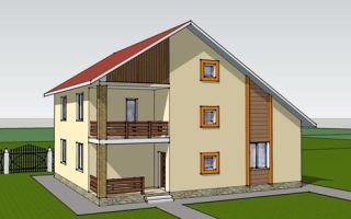 Проект двухэтажного дома 183 кв.м — 102-183