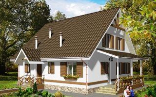 Проект мансардного дома 135 кв.м — 102-135