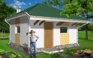 Проект летней кухни 20 кв.м — 101-020
