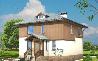 Проект двухэтажного дома 154 кв.м — 101-154
