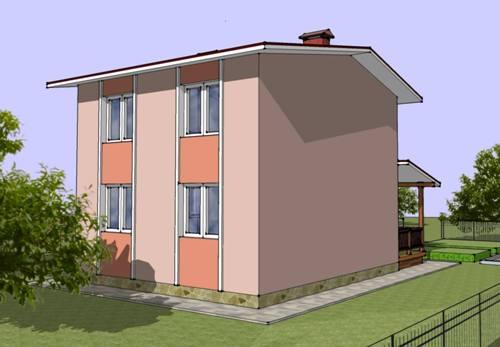 Общий вид проекта двухэтажного дома 81 кв.м