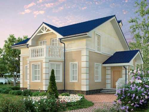 Общий вид проекта мансардного дома 183 кв.м