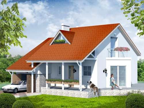Общий вид проекта мансардного дома 179 кв.м