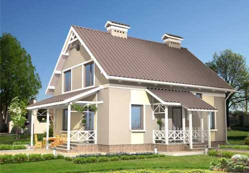 Общий вид проекта мансардного дома 151 кв.м