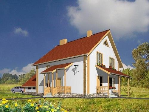 Общий вид проекта двухэтажного дома 173 кв.м