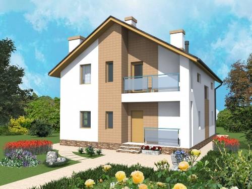 Общий вид проекта мансардного дома 126 кв.м