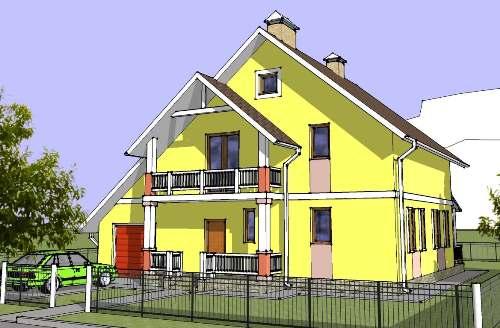 Общий вид проекта двухэтажного дома 171 кв.м