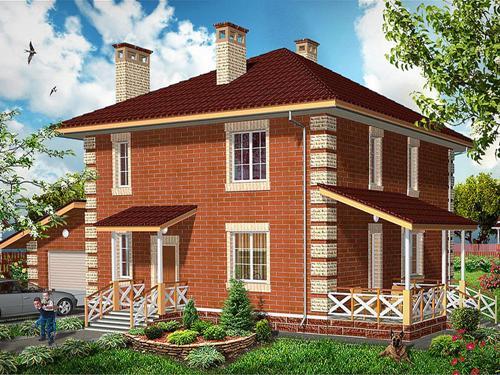 Общий вид проекта двухэтажного дома 161 кв.м