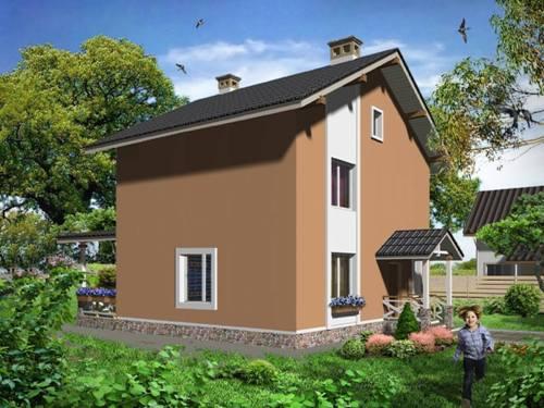 Общий вид проекта двухэтажного дома 114 кв.м