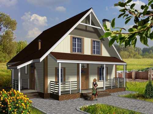 Общий вид проекта двухквартирного дома 151 кв.м