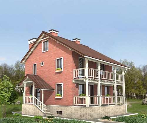 Общий вид проекта двухэтажного дома 165 кв.м