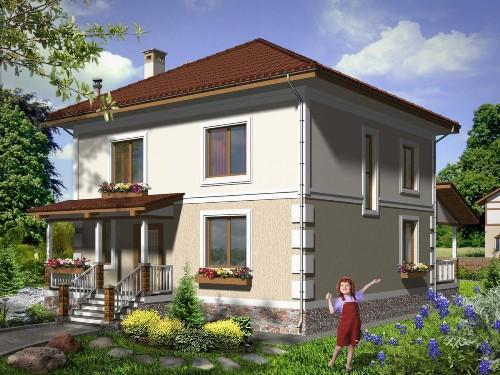 Общий вид проекта двухэтажного дома 156 кв.м