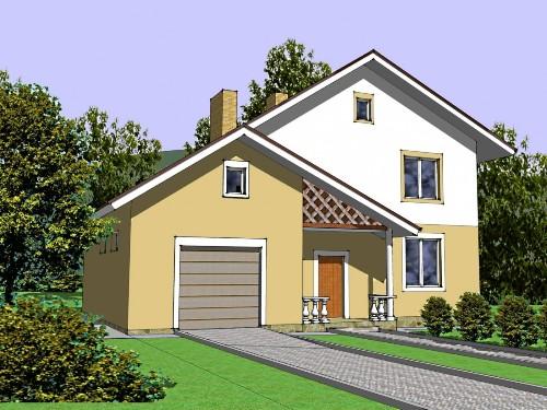Общий вид проекта двухэтажного дома 189 кв.м