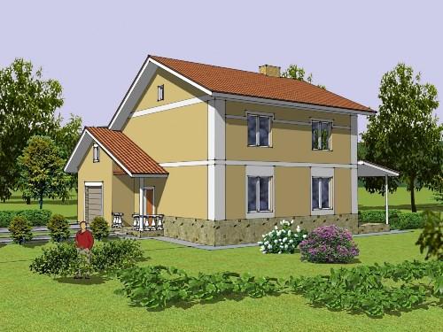 Общий вид проекта двухэтажного дома 175 кв.м
