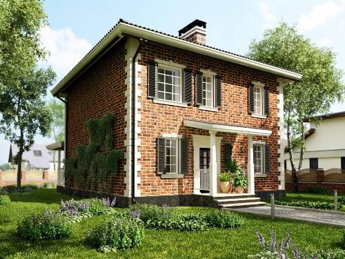 Общий вид проекта двухэтажного дома 132 кв.м