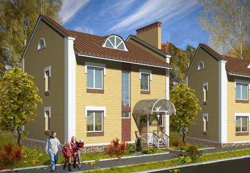 Общий вид проекта двухэтажного дома 137 кв.м