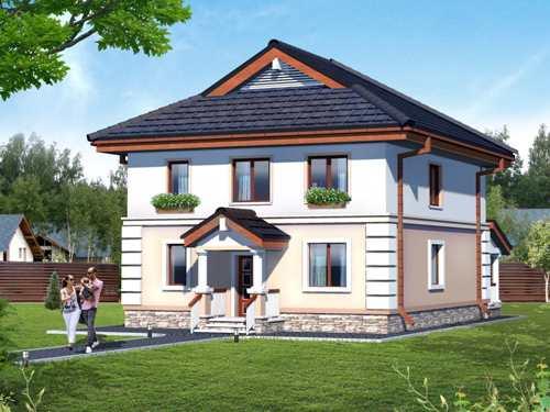Общий вид проекта двухэтажного дома 178 кв.м