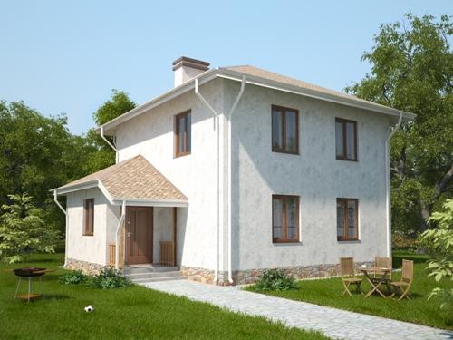 Общий вид проекта двухэтажного дома 118 кв.м