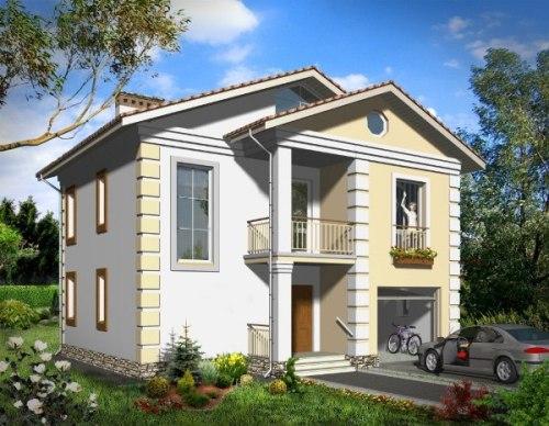 Общий вид проекта двухэтажного дома 139 кв.м
