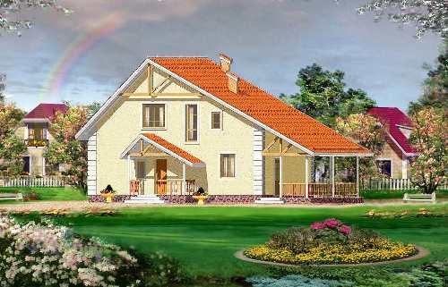 Общий вид проекта дома