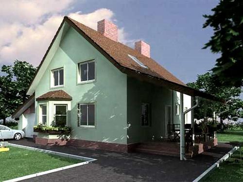 Общий вид проекта двухэтажного дома 188 кв.м