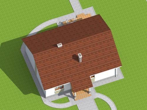 Вид дома сверху