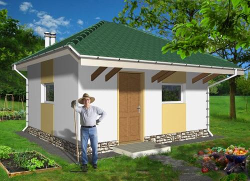 Общий вид проекта летней кухни 20 кв.м