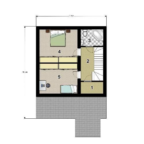 План второго этажа проекта дома с мансардой 102 кв.м