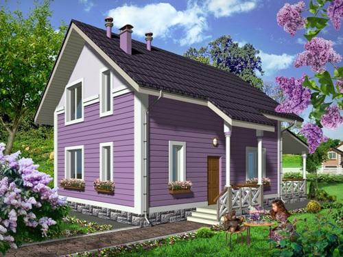 Общий вид проекта мансардного дома 103 кв.м