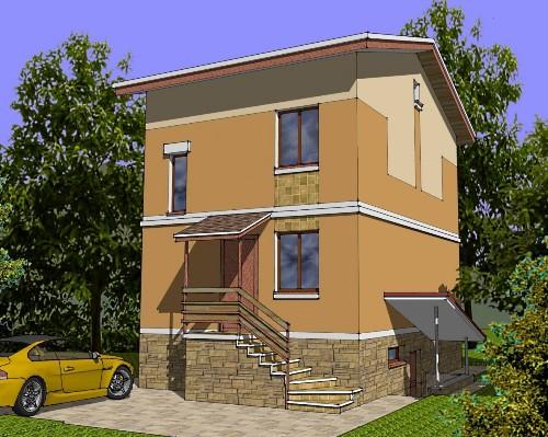 Общий вид проекта двухэтажного дома 131 кв.м