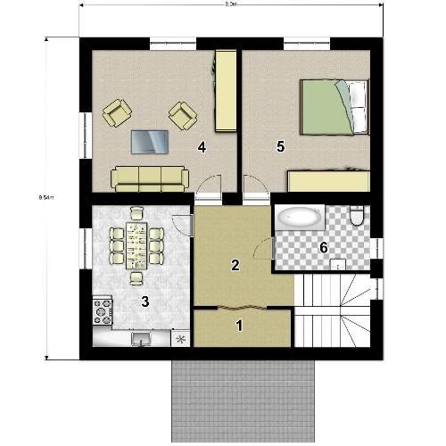 План 2 этажа