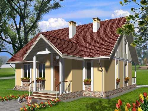 Общий вид проекта мансардного дома 157 кв.м
