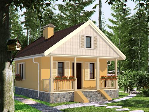 Общий вид проекта дома 35 кв.м