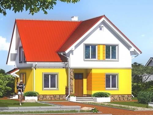 Общий вид проекта мансардного дома 175 кв.м