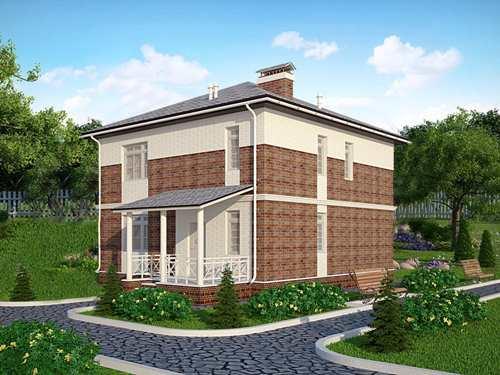 Общий вид проекта  двухэтажного дома 146 кв.м
