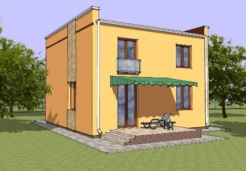 Общий вид проекта двухэтажного дома 124 кв.м
